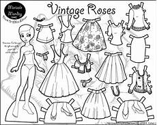 paper doll coloring pages 17642 marisole monday vintage roses paper thin personas