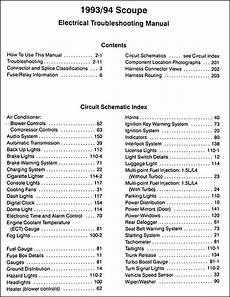 automotive service manuals 1994 hyundai scoupe free book repair manuals 1993 1994 hyundai scoupe electrical troubleshooting manual original
