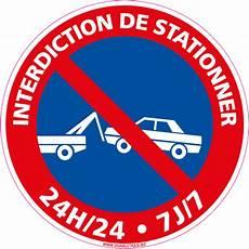 Panneau Interdiction De Stationner 24h 24h 7 7 L0022