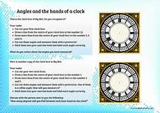 angles on a clock face by tokyoboy teaching resources
