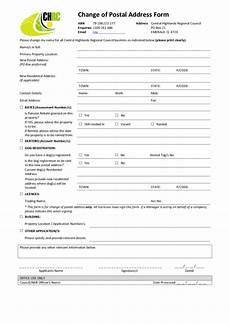 fillable change of postal address form printable pdf download