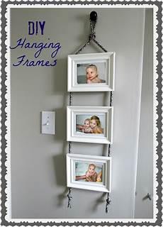 bilderrahmen verzieren ideen diy hanging frames tutorial tatertots and jello