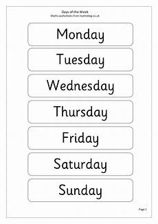 days of the week word scramble worksheet for 1st 3rd grade lesson planet