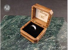 Buy a Hand Crafted Zebra Wood Engagement Ring Box, With