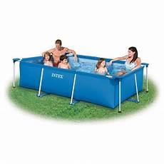 piscine tubulaire rectangulaire 3x2x0 75m metal frame