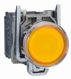 bouton poussoir lumineux affleurant 1no 1nf orange