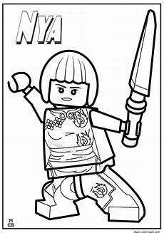 ninjago lego coloring pages nya ninjago coloring pages