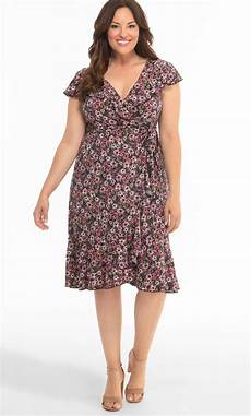 plus size kleider plus size sleeveless v neck dress floral wrap dress plus