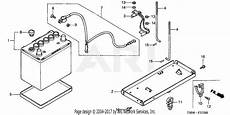 honda ht3810 sa lawn tractor jpn vin ht3810 5000034 to ht3810 5099999 parts diagram for battery