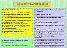 mixed active passive voice worksheet