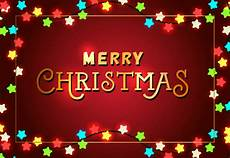 merry christmas festive poster design lights vector free download