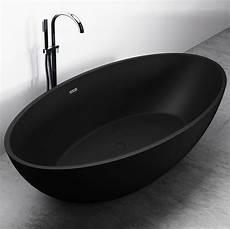badewanne freistehend schwarz freistehende badewanne aus mineralguss relax schwarz matt