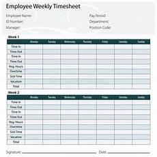 employee timesheet template stock vector illustration of