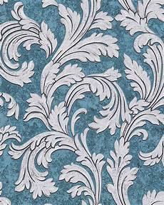 Tapete Petrol Silber - edem 1032 12 barock tapete ornament glitzernd blau petrol