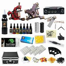professional complete tattoo kit 2 top machine gun 8 color