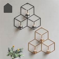 cute wall mounted 3d tea light candle holder metal candlestick diy home decor in candle holders