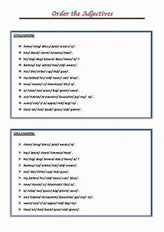 adjectives worksheets with answers pdf 101 free word order worksheets
