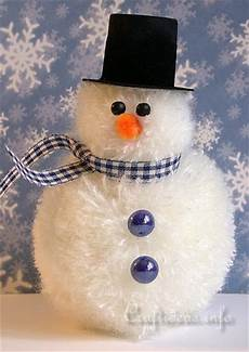 and winter crafts for pom pom snowman
