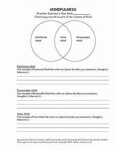 dbt mindfulness exercise homework assignment 1 adapted from marsha m linehan s skills