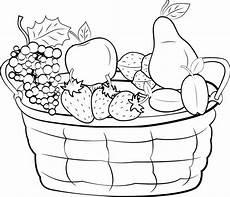 malvorlagen erntedank kostenlos kostenlose malvorlage obst und gem 252 se obstkorb mit