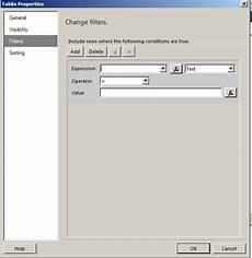 ssrs date filter lessthandot ssrs properties tablix filters