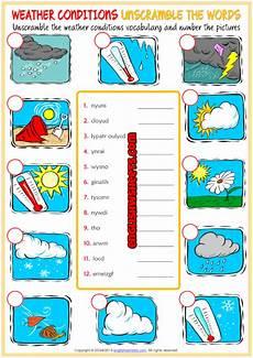 weather worksheets esl 14471 weather conditions esl printable vocabulary worksheets con im 225 genes ense 241 anza de ingl 233 s