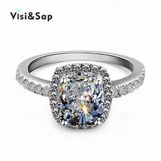 visisap 3 gold color square wedding ring engagement rings