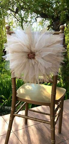 wedding chair d 233 cor with tulle crafts wedding chair
