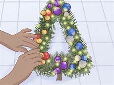 how to make a christmas tree wreath 10 steps with pictures