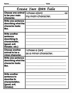 create your own fable worksheet writing lessons 3rd grade writing teaching writing