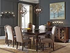 baxenburg brown extendable rectangular dining room from coleman furniture