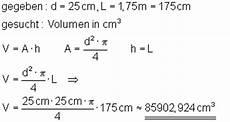 Aufgaben Volumenberechnung Mathe Brinkmann