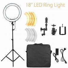 Inch Dimmable Ring Light Tripod by Buy 18 Inch 5500k Dimmable Led Adjustable Ring Light L