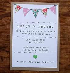 Bunting Invitations Wedding