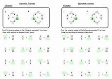 fraction worksheets key stage 2 3996 equivalent fractions by deechadwick teaching resources