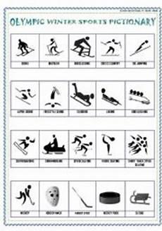 winter sports worksheets 15893 worksheet winter sports pictionary