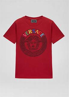 Jungs Malvorlagen Versace Versace T Shirt Mit Multicolor Medusa Logo F 252 R Jungs