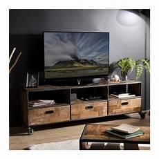 meuble tv a so inside pr 233 sente un meuble tv 224 roulettes en bois de