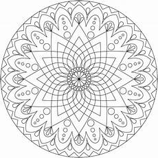 simple mandala coloring pages and print for free
