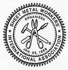 sheet metal workers international association union logo metal workers sheet metal