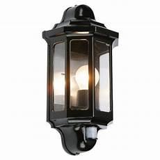 pir black garden wall light 1818 the lighting superstore