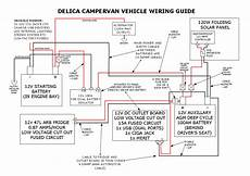 Delica Aircon Wiring Diagram by Our Delica Cervan S 12v Electrical Setup Comfortably Lost