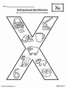 letter x ending sound color pictures worksheet handwriting worksheets for kids kindergarten