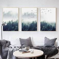 living room wall painting nordic forest lanscape wall canvas poster print