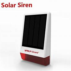 Wolf Guard 007at Wireless Home Outdoor by Wireless Outdoor Solar Siren Flash Strobe For Security