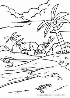 Ausmalbilder Urlaub Meer Malvorlagen Palmen Strand Coloring And Malvorlagan