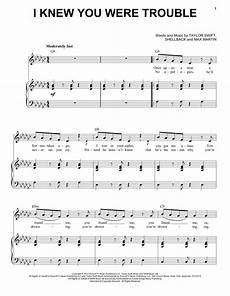 i knew you were trouble sheet music piano