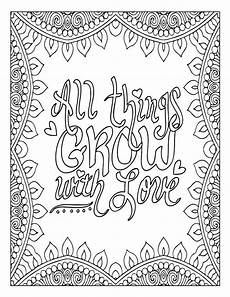 motivational word coloring page inspirational