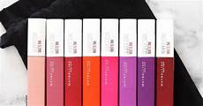 maybelline superstay matte ink swatches review