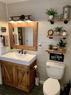 Home Decor Ideas Bathroom by Rustic Farmhouse Bathroom Custom Made Cabinet Shelves